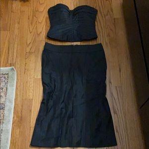 Bebe Corset w/ Matching Fishtail Pencil Skirt